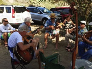 Jamming at the beach with some great musicians